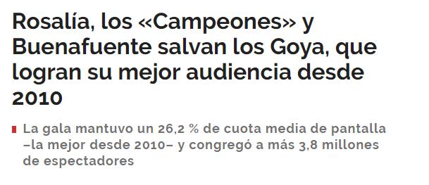 Mujeres en los Goya